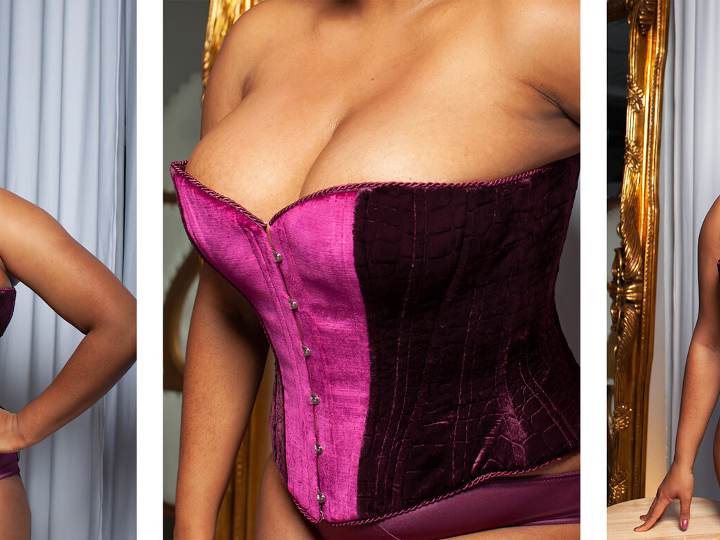 Different poses of Jenny Rieu Wearing Somptueux Rieu corset